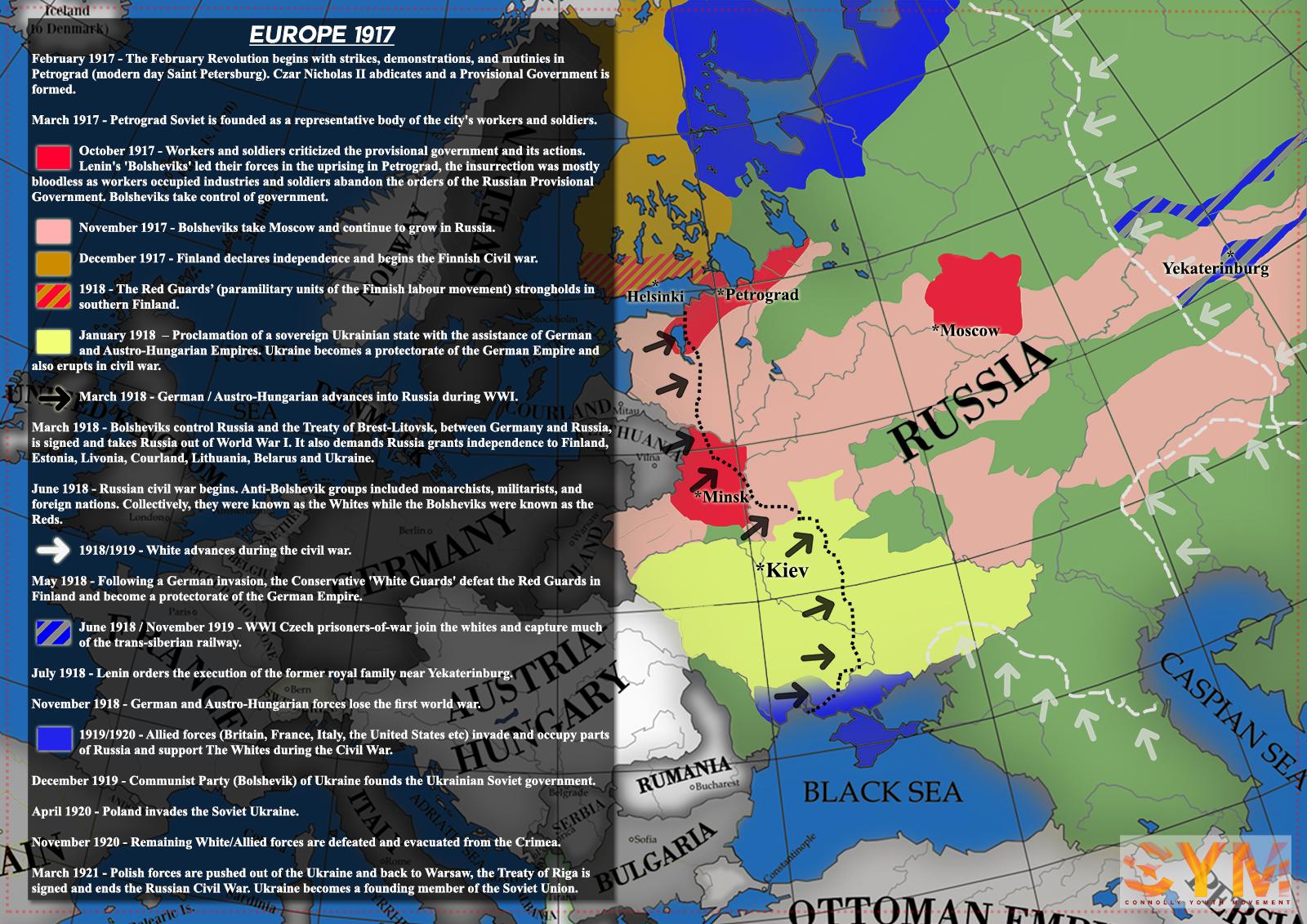EUROPE 1917 MAP – CYM